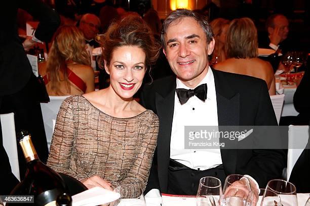 Lisa Martinek and her husband Giulio Ricciarelli attend the German Film Ball 2014 on January 18 2014 in Munich Germany