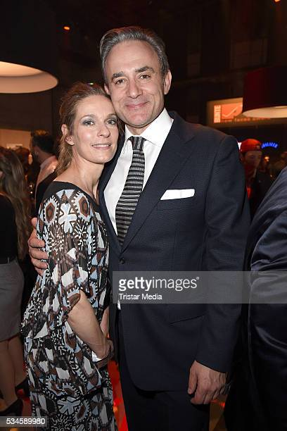 Lisa Martinek and her husband Giulio Ricciarelli attend the New Faces Award Film 2016 at ewerk on May 26 2016 in Berlin Germany