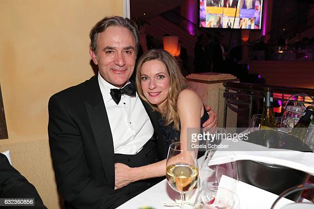 Lisa Martinek and her husband Giulio Ricciarelli during the 44th German Film Ball 2017 party at Hotel Bayerischer Hof on January 21 2017 in Munich...