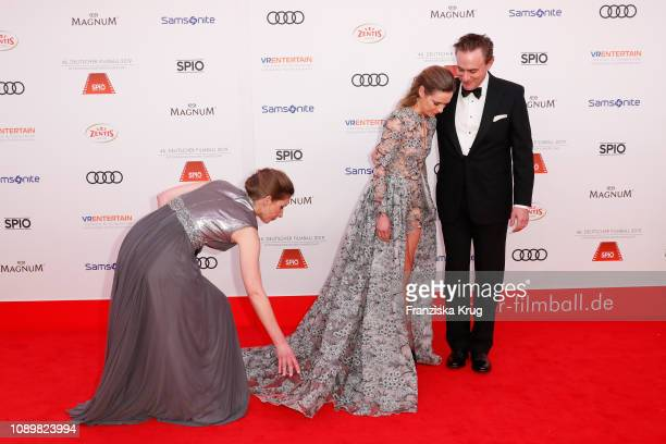 Lisa Martinek and her husband Giulio Ricciarelli during the 46th German Film Ball at Hotel Bayerischer Hof on January 26 2019 in Munich Germany