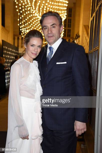 Lisa Martinek and her husband Giulio Ricciarelli during the Berlin Opening Night by GALA and UFA Fiction at Das Stue on February 15 2018 in Berlin...