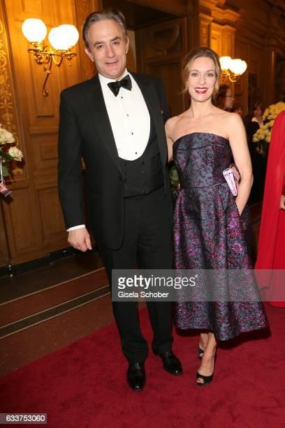 Lisa Martinek and her husband Giulio Ricciarelli during the Semper Opera Ball 2017 at Semperoper on February 3 2017 in Dresden Germany