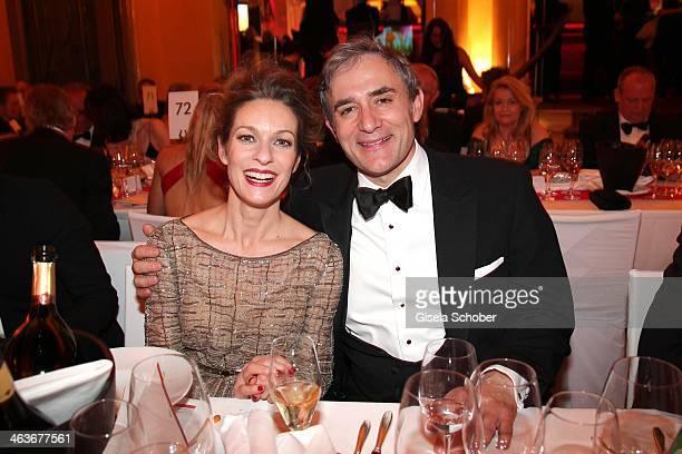 Lisa Martinek and husband Giulio Ricciarelli attend the German Film Ball 2014 at Hotel Bayerischer Hof on January 18 2014 in Munich Germany