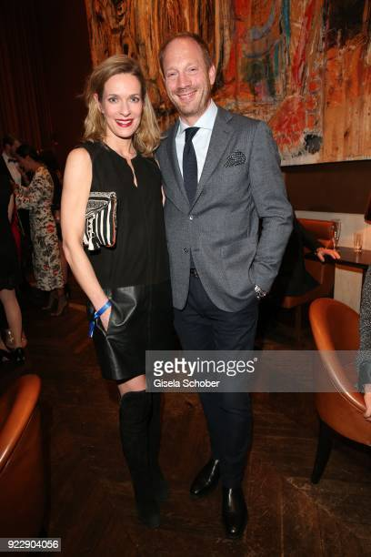 Lisa Martinek and Johann von Buelow during the BUNTE & BMW Festival Night 2018 on the occasion of the 68th Berlinale International Film Festival...
