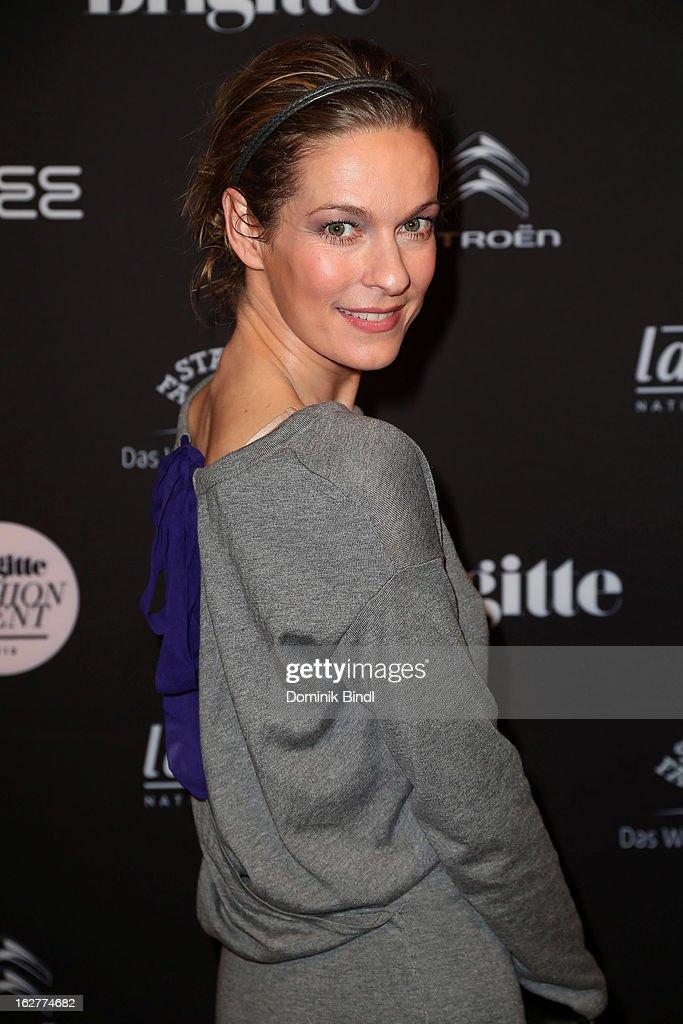 Lisa Martinek attends the BRIGITTE fashion event 2013 on February 26, 2013 in Munich, Germany.