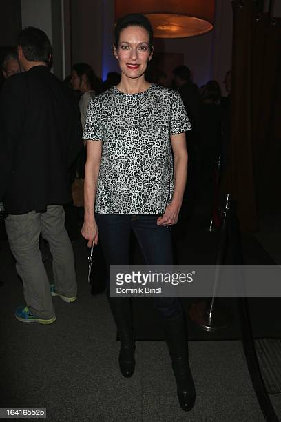 Lisa Martinek attends the Ndf Afterwork Party at 8 Seasons on March 20 2013 in Munich Germany