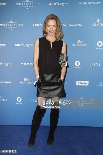 Lisa Martinek attends the Porsche at Blue Hour Party hosted by ARD during the 68th Berlinale International Film Festival Berlin at Museum fuer...