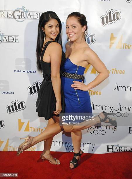 Lisa Mastroianni and Lily Vonnegut at the Harris Grade Music Video Release Party at Cinespace on March 26 2009 in Hollywood California