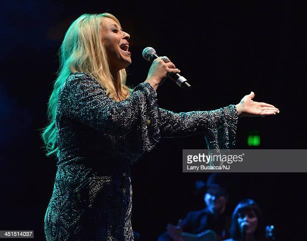 Lisa Matassa performs during Playin' Possum The Final No Show Tribute To George Jones Show at Bridgestone Arena on November 22 2013 in Nashville...