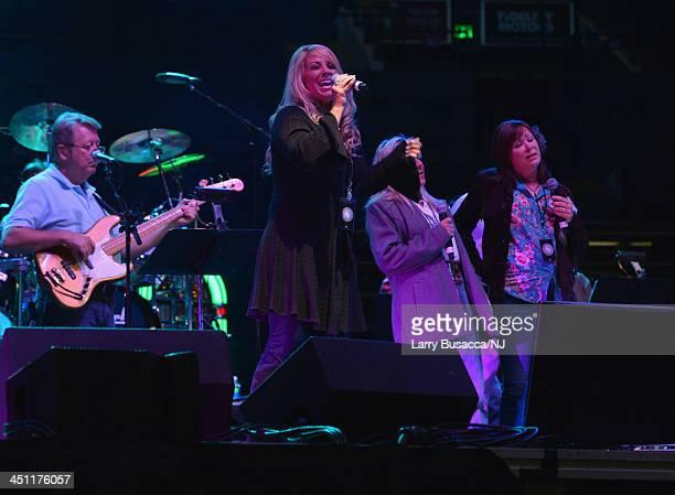 Lisa Matassa performs during rehearsals of Playin' Possum The Final No Show Tribute To George Jones at Bridgestone Arena on November 21 2013 in...