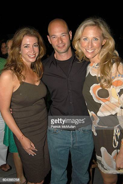 Lisa Mathias Jason Smith and Shari attend Cocktail Party With Steven Schonfeld Celebrating Mindy Greenblatt's Birthday at Watermill on August 19 2006