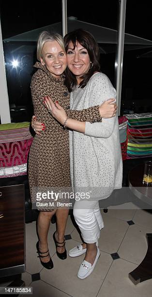 Lisa Maxwell and Jane Mcdonald attends the Chicken first night after party at Piaza Covent Garden on June 26 2012 in London England