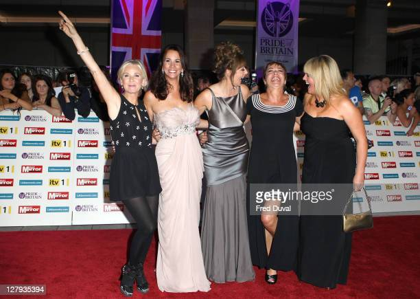 Lisa Maxwell Andrea McLean Carol Vorderman Denise Welch and Sally Lindsay attend the Pride of Britain Awards at Grosvenor House on October 3 2011 in...