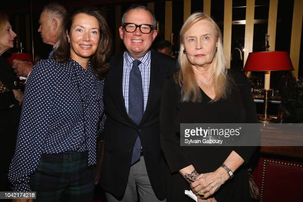 Lisa McCarthy Alex Papachristidis and attend David Patrick Columbia And Chris Meigher Toast The QUEST 400 At DOUBLES on September 27 2018 in New York...