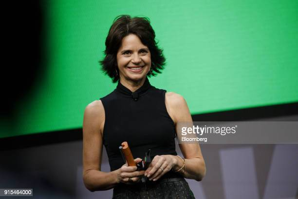 Lisa McCarthy founder and chief executive officer of Fast Forward Solutions Group LLC smiles during the 2018 Makers Conference in Hollywood...