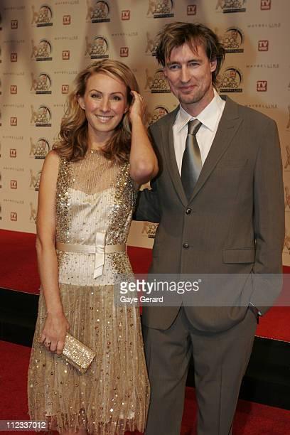 Lisa McCune and husband Tim Disney during 2006 TV Week Logie Awards Arrivals at Crown Casino in Melbourne VIC Australia