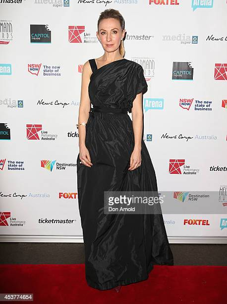 Lisa McCune arrives at the 2014 Helpmann Awards at the Capitol Theatre on August 18 2014 in Sydney Australia