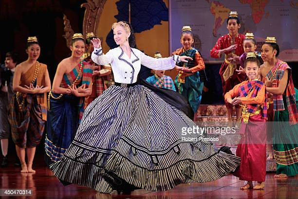 Lisa McCune performs during a photo opportunity at Princess Theatre on June 12 2014 in Melbourne Australia
