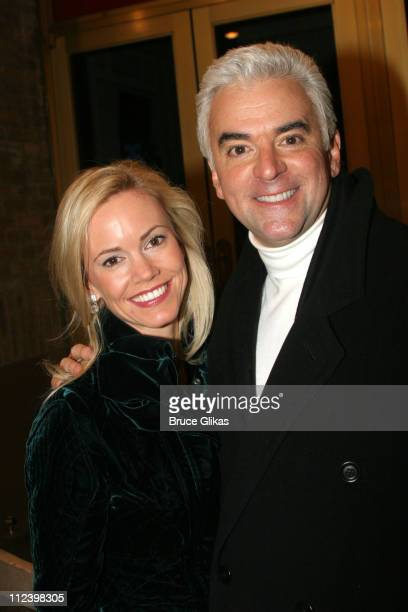 Lisa Mesloh O'Hurley and husband John O'Hurley during John O'Hurley and Robin Givens Opening Night in 'Chicago' on Broadway at The Ambassador Theater...