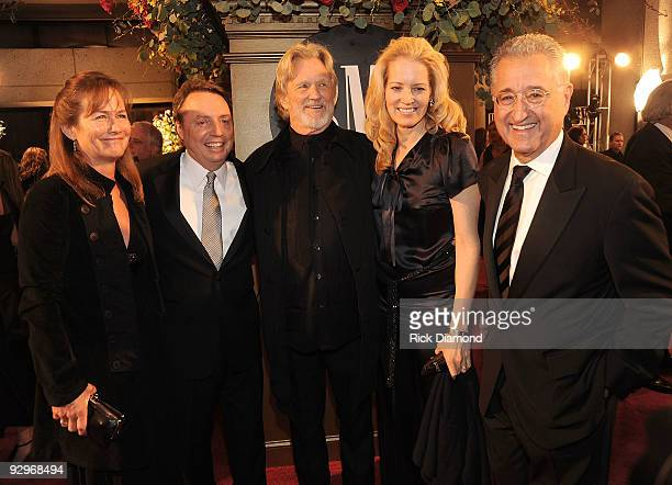 Lisa Meyers VP Writer Publisher Relations Nashville Jody Williams honoree Kris Kristofferson Caroline Bryant and Del Bryant attends the 57th Annual...