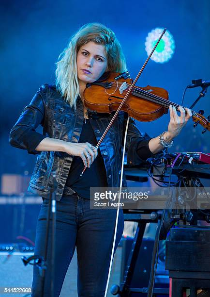 Lisa Molinaro of Modest Mouse performs at DTE Energy Music Theater on July 3 2016 in Clarkston Michigan