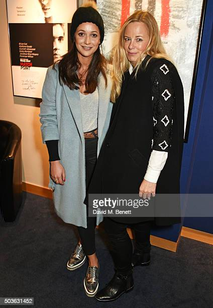 Lisa Moorish and Astrid Harbord attend a special screening of The Hateful Eight hosted by The Weinstein Company at the Soho Screening Rooms on...