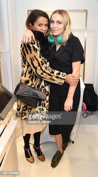 Lisa Moorish and Becky Tong attend the opening of American Vintage first London Flagship store on November 18 2015 in London England
