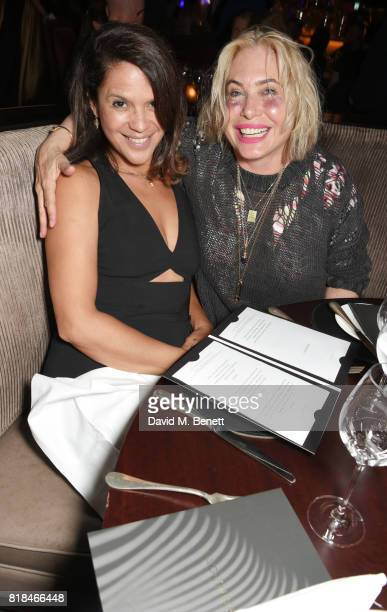 Lisa Moorish and Brix SmithStart attend the launch of Quaglino's Q Legends Summer Series featuring special guests The Commitments on July 18 2017 in...