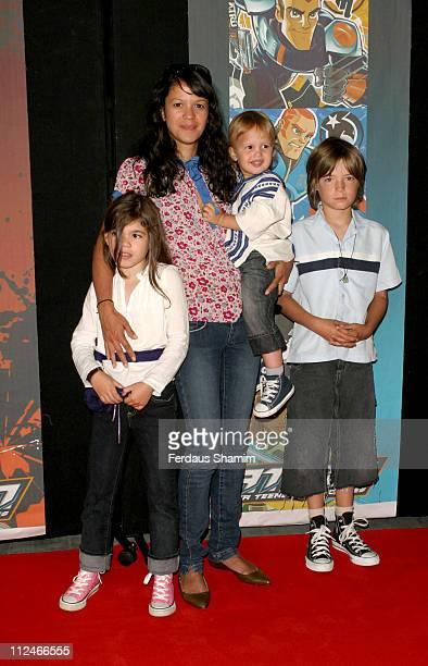 Lisa Moorish and family during 'ATOM ' London TV Premiere at The Trocadero in London Great Britain