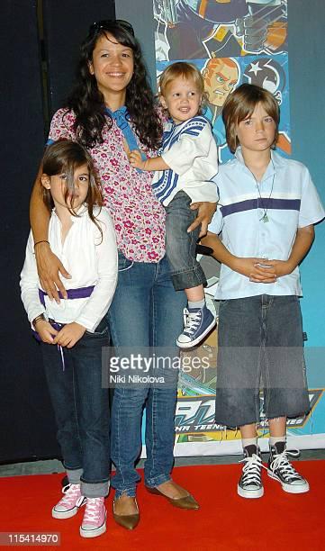 Lisa Moorish and family during 'ATOM' London TV Premiere at The Trocadero in London Great Britain
