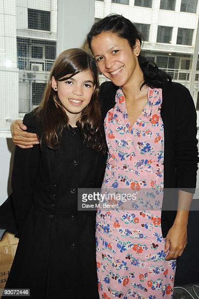 Lisa Moorish and her daughter Molly Gallagher attend The Really Really Great Garage Sale at Selfridges on November 15 2009 in London England
