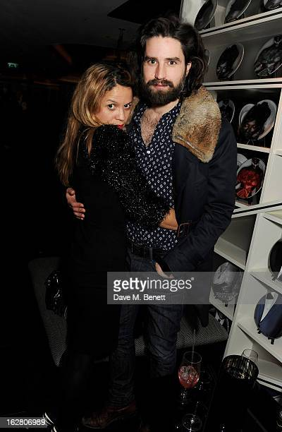 Lisa Moorish and Jack Guinness party in Wyld at W London Leicester Square after the NME Awards whilst drinking 'CIROC 'n' Roll' cocktails on February...
