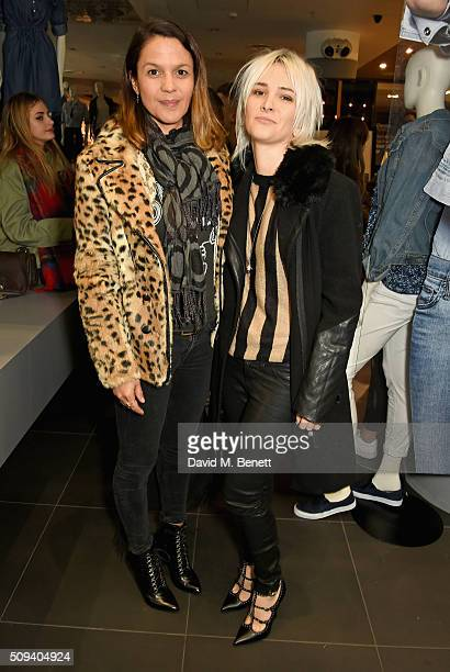 Lisa Moorish and Sshh Liguz attend the Gap Partnership with Lion Coffee Records Launch Party at Gap Flagship Store Oxford Street on February 10 2016...