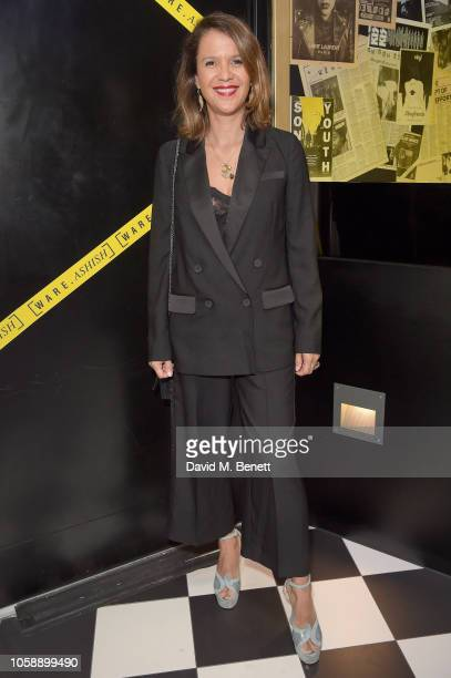Lisa Moorish attends a launch party to celebrate Warehouse collaborating with Fashion Week designer Ashish at The Curtain on November 7 2018 in...