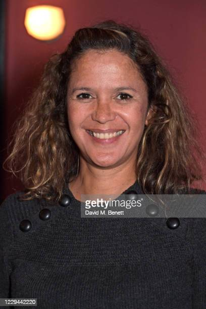 """Lisa Moorish attends a private screening of """"Keep Fighting For The NHS/ICS"""" presented by Thelonious Punk at The Groucho Club on November 3, 2020 in..."""