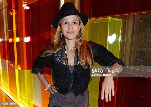 Lisa Moorish attends Sushisamba's second anniversary celebration with a performance by Lily Allen at VIP at Sushi Samba on November 11 2014 in London...