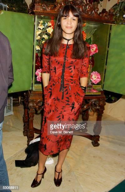 Lisa Moorish attends the Fragrance Launch Party for British designer Matthew Williamson's new women's fragrance at the Fifth Floor Bar Harvey Nichols...
