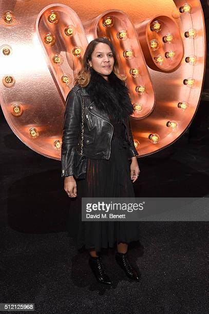 Lisa Moorish attends the Warner Music Group Ciroc Vodka Brit Awards after party at Freemasons Hall on February 24 2016 in London England