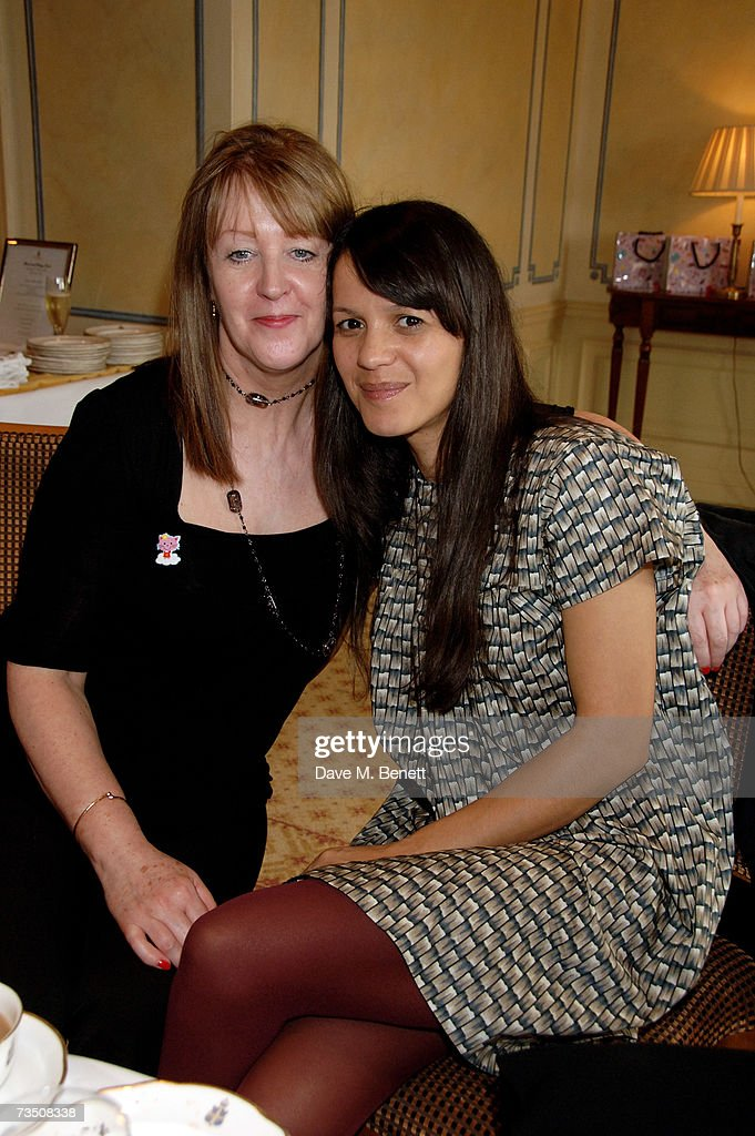Lisa Moorish (R) with mother Lily attend the DoorOne.co.uk Pamper Party hosted by Pearl and Daisy Lowe, at Claridges on March 6, 2007 in London, England.