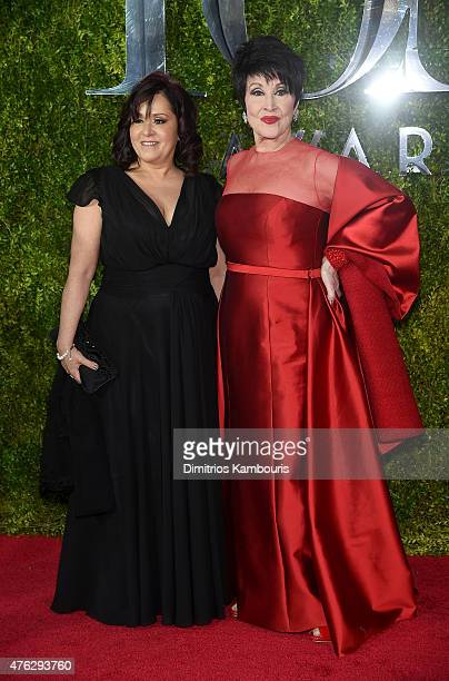 Lisa Mordente and Chita Rivera attend the 2015 Tony Awards at Radio City Music Hall on June 7 2015 in New York City