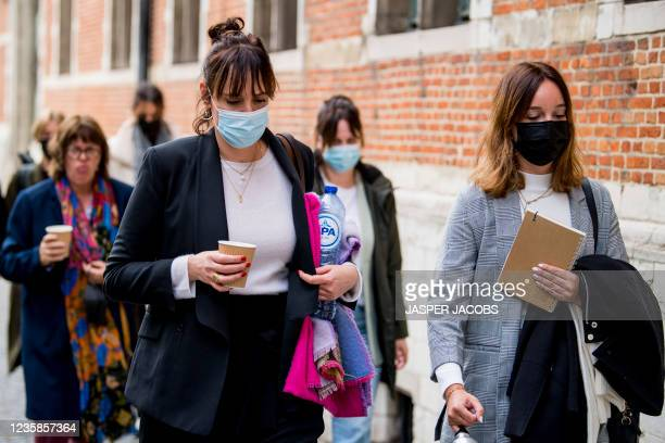 Lisa Naert pictured during a session of the Criminal Court in Mechelen in the trial of television producer Bart De Pauw, accused of stalking several...