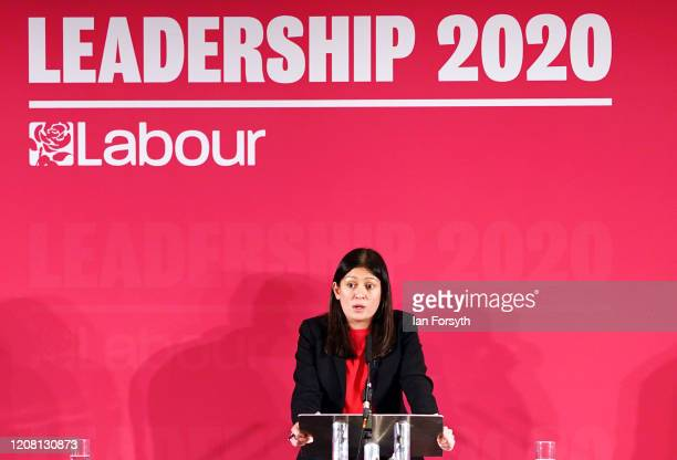 Lisa Nandy MP for Wigan addresses the audience during the Labour Party Leadership hustings at the Radisson Blu Hotel on February 23 2020 in Durham...