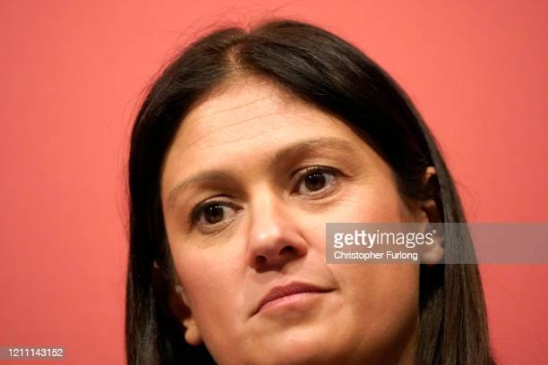Lisa Nandy MP for Wigan takes part in the last Labour Party Leadership hustings at Dudley Town Hall on March 08 2020 in Dudley England Sir Keir...