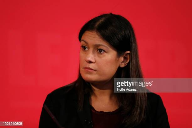 Lisa Nandy speaking at a hustings event for Labour Leader and Deputy Leader hosted by the Cooperative Party at the Business Design Centre on February...