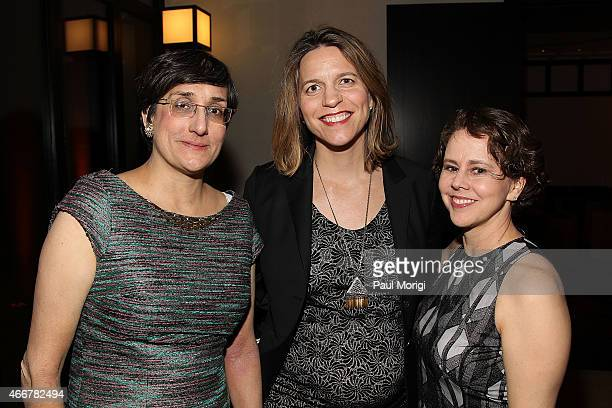 Lisa Navarrete Paulette Aniskoff and Cecilia Munoz attend the ELLE and HUGO BOSS Women in Washington Power List Dinner at The Residence of the German...