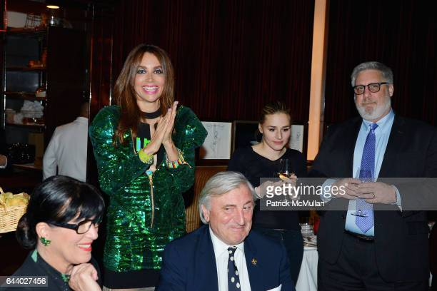 Lisa Niccolini Lieba Nesis Julian Niccolini Jenny Lenz and Brian Fisher attend Lieba's Birthday Dinner at Le Cirque on February 22 2017 in New York...