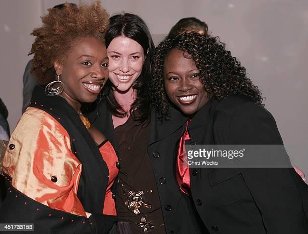 Lisa Nichols Ally Bernstein and guest during Stuart Weitzman Hosts an Evening Honoring Jennifer Hudson at the Hollywood Roosevelt Hotel's...