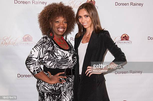 Lisa Nichols and Guiliana Rancic pose for a photo during the 2013 Get Radical Women's Conference at Hyatt Regency Reston on March 23, 2013 in Reston,...