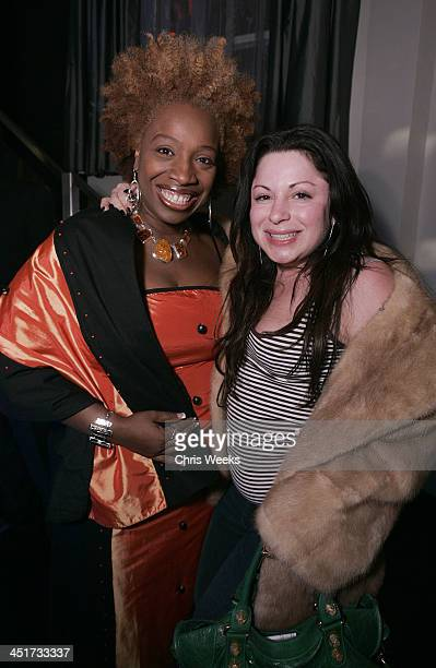Lisa Nichols and Jessica Paster during Stuart Weitzman Hosts an Evening Honoring Jennifer Hudson at the Hollywood Roosevelt Hotel's Gable/Lombard...