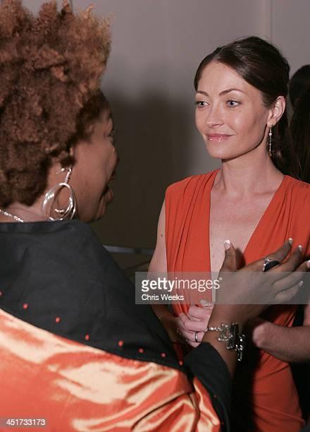 Lisa Nichols and Rebecca Gayheart during Stuart Weitzman Hosts an Evening Honoring Jennifer Hudson at the Hollywood Roosevelt Hotel's Gable/Lombard...